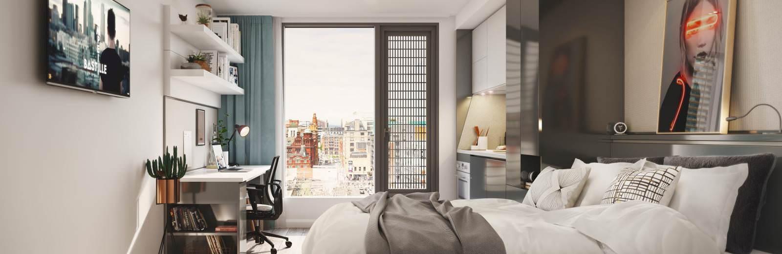 vita student circle square manchester student. Black Bedroom Furniture Sets. Home Design Ideas