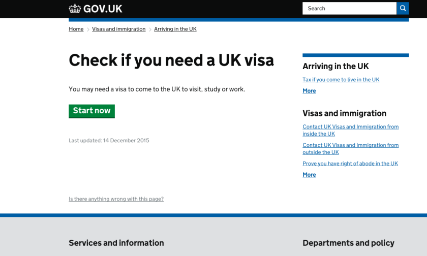 Website to study in the UK-GOV.UK
