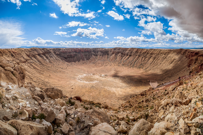 study in the US: meteor crater