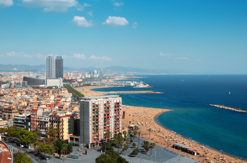 Best Places to Study Abroad beaches: barcelona