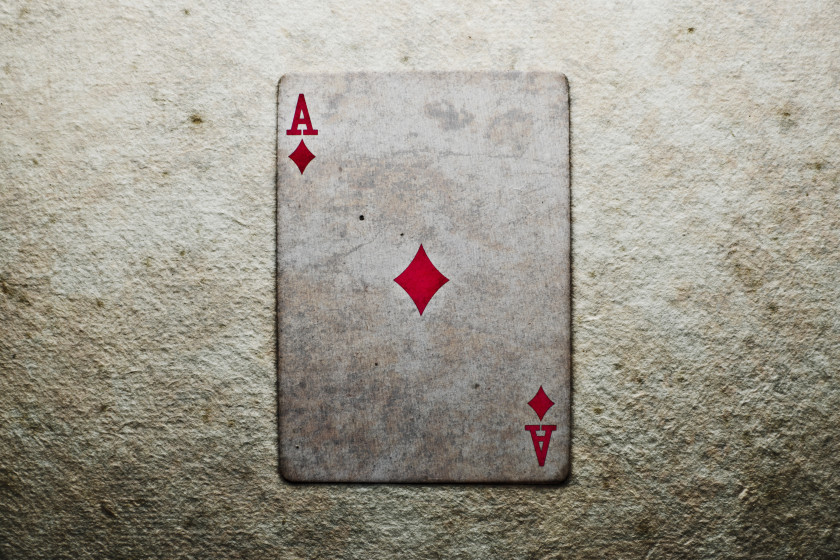English Phrases Ace of diamonds playing cards