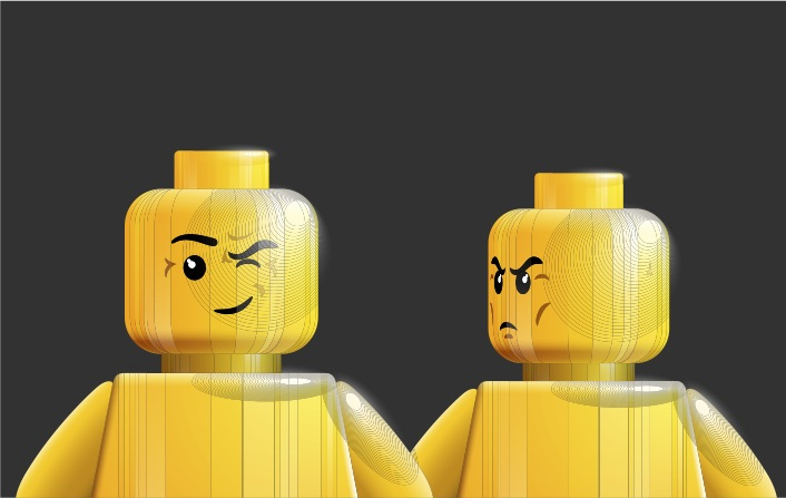 English phrases I'm not being funny but mischevious and angry lego men