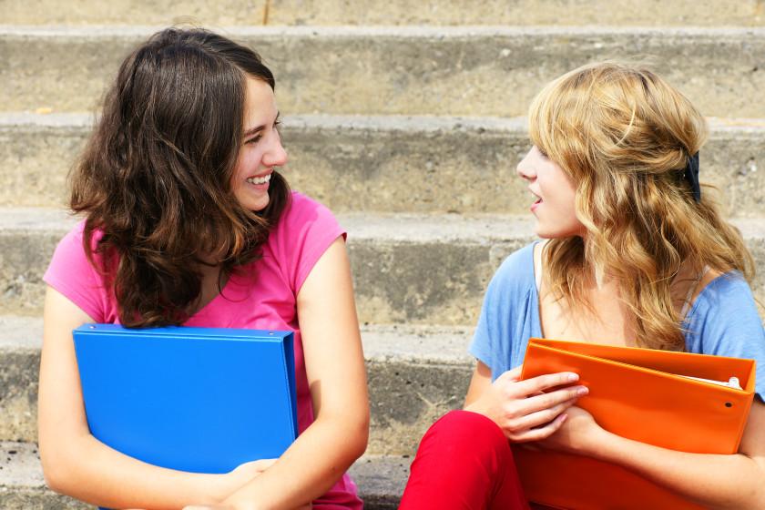 English phrases chin wag gossip two girls chatting