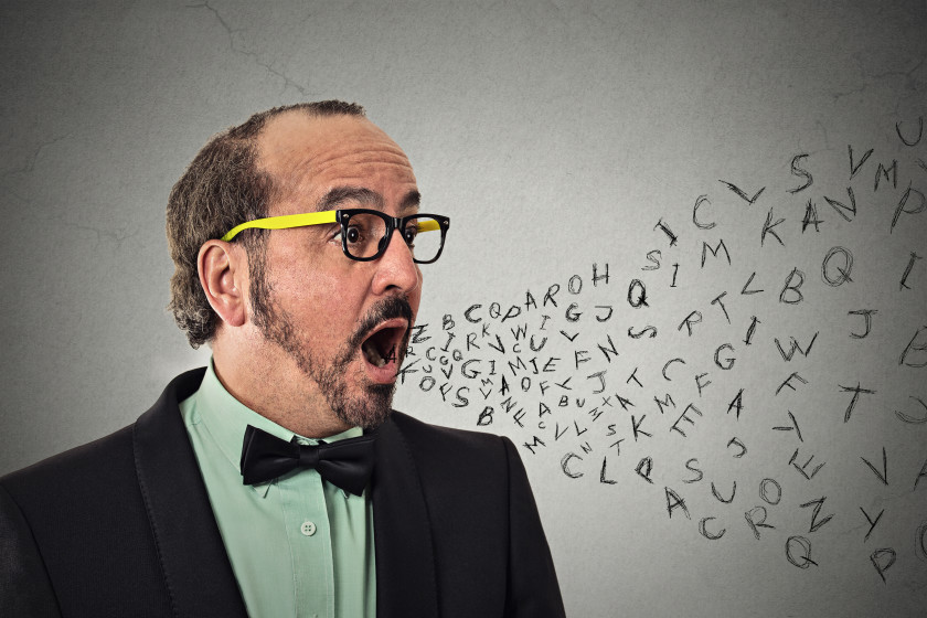 English phrases gobbledegook man talking nonsense