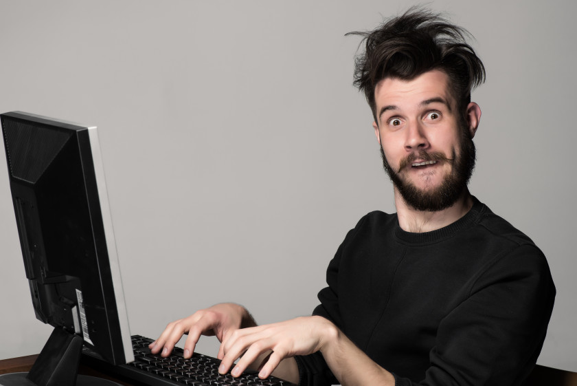 english phrases lost the plot crazy guy on computer