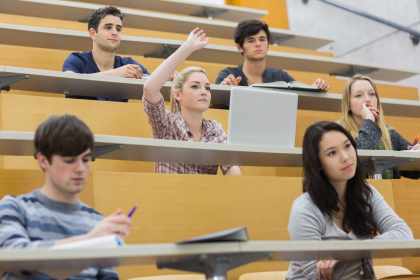 New University Term Resolutions participating in lectures