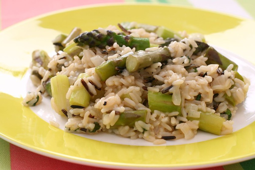 easy recipes for students asparagus risotto