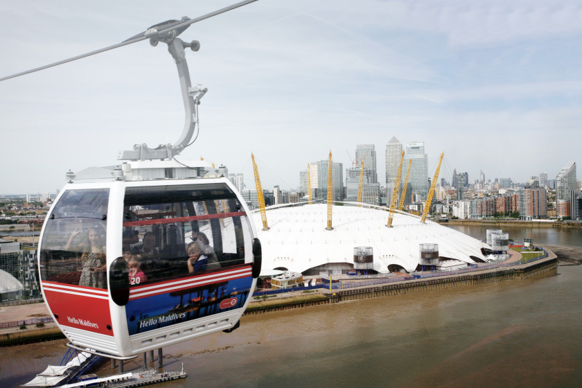 student travel london underground: cable car