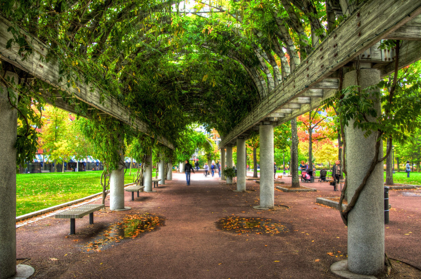 study spots for students in boston: christopher columbus park
