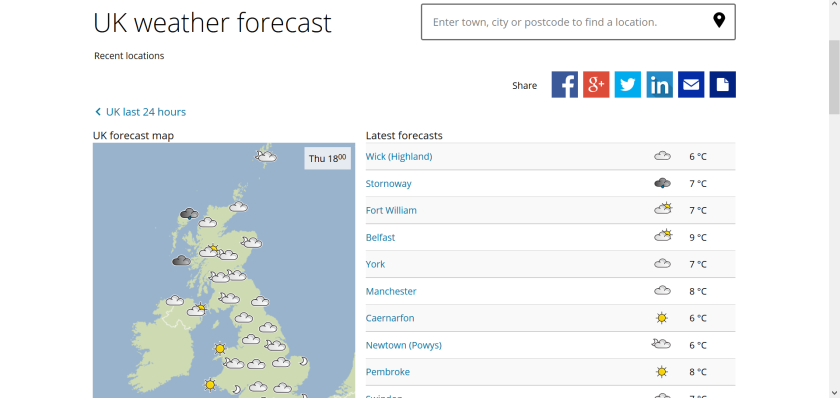 websites for uk study: met office
