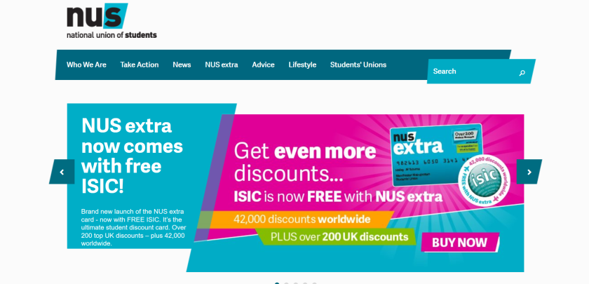 websites for uk study: nus