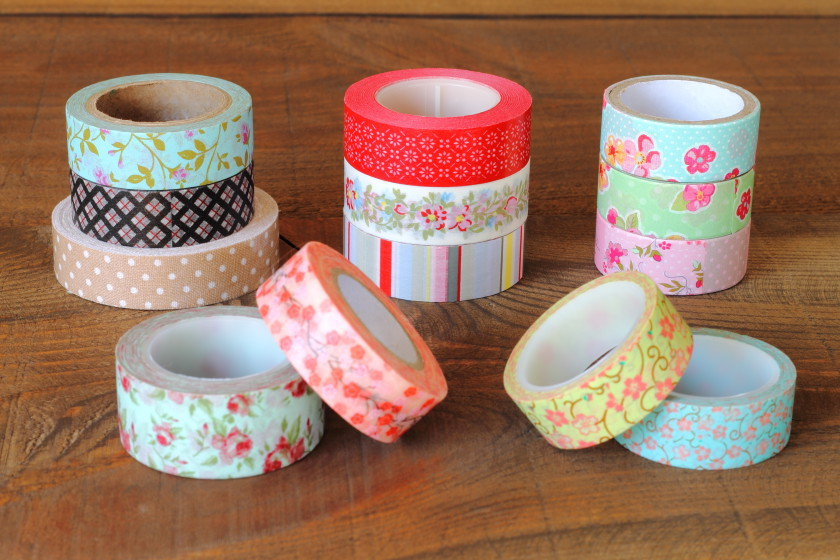 decorate student room: washi tape