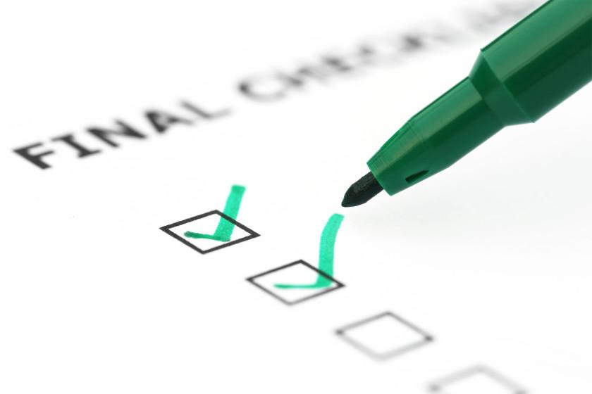Exam Tips Final Checks tick off