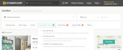Student.com cancellation policies