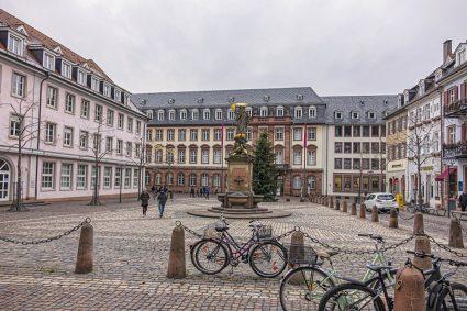 A street scene in the famous university town of Heidelberg